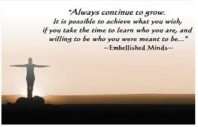 always continue to grow