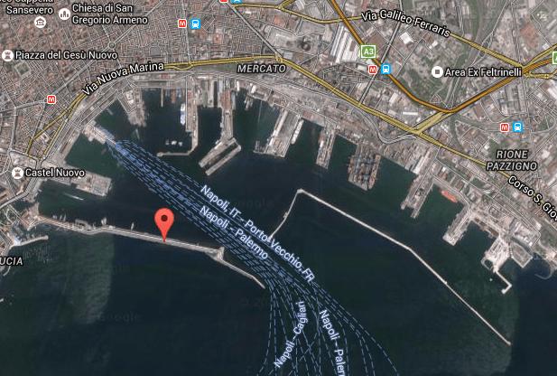 Mappa porto di Napoli