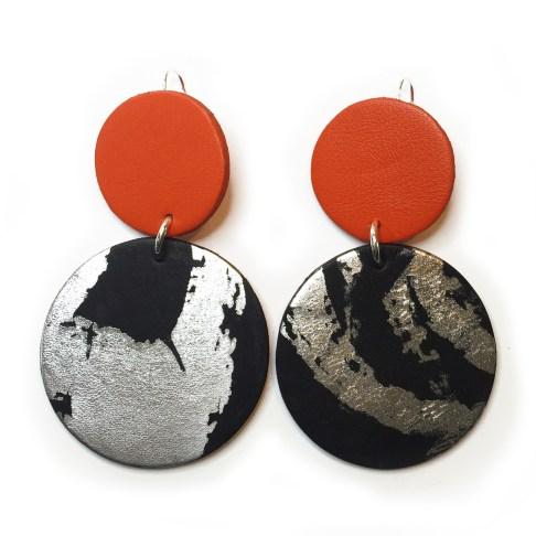 boucles oreille R1 orange