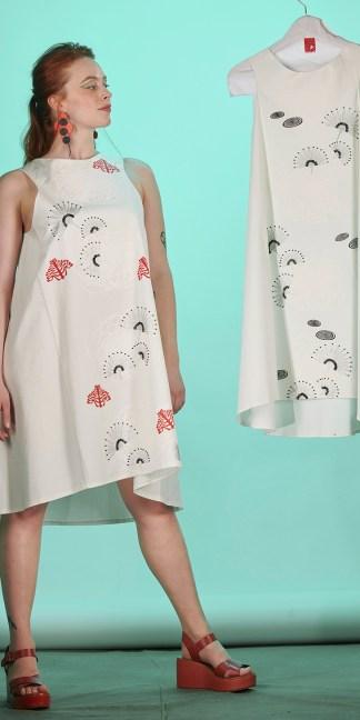 robe été blanche brodée à la main