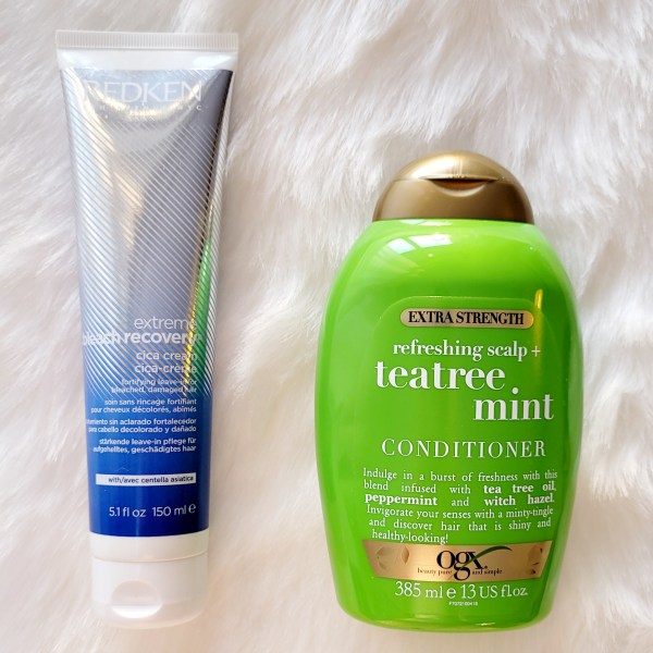 OGX Teatree Mint Conditioner and Redken Extreme Bleach Recovery Leave in Cream Review
