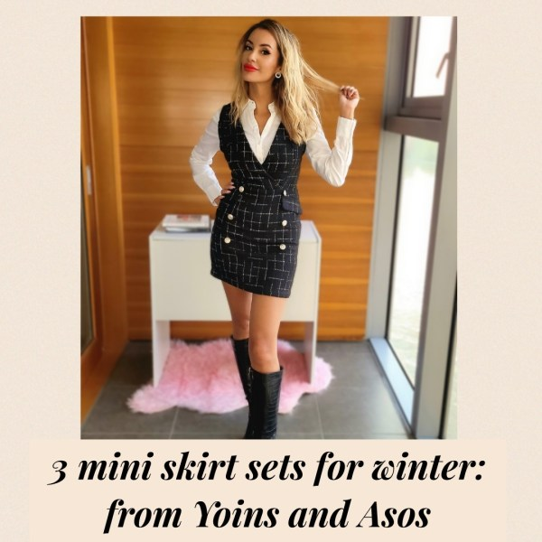 3 Mini Skirt Sets for Winter: from Yoins and Asos