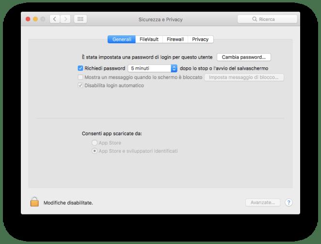 Schermata che consente l'installazione di App di sviluppatori identificati