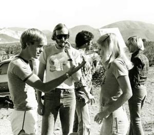 Wes Craven, Robert Houston and Suze Lanier-Bramlett on set of The Hills Have Eyes