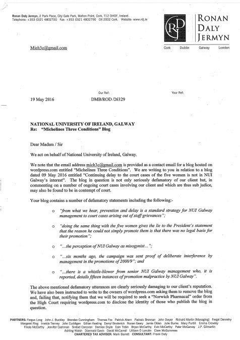 Solicitor letter