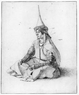 Turkish Woman by Gentile Bellini 1479-1480 (British Museum)