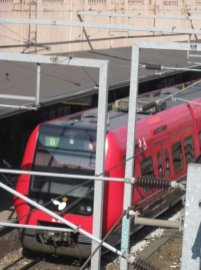 S-Tøg pulling into Vesterport Station.