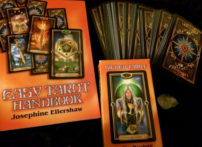Gilded Tarot with learning book. I'm learning with this deck.