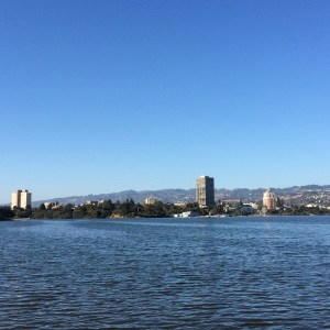 My goal is to be able to run the entire 3 miles around the perimeter of Lake Merritt in Oakland, pictured here.