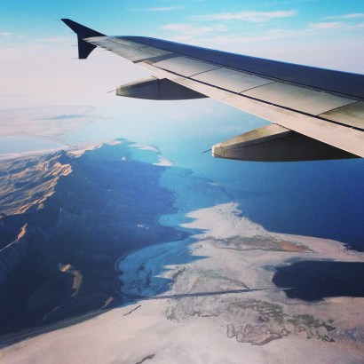 View on final descent into Salt Lake City.