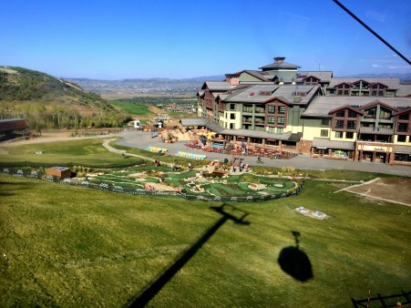 View of resort from Gondola.