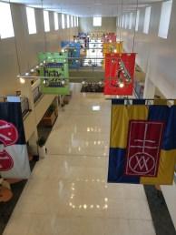 3rd floor Davis Library, looking down over the first floor.