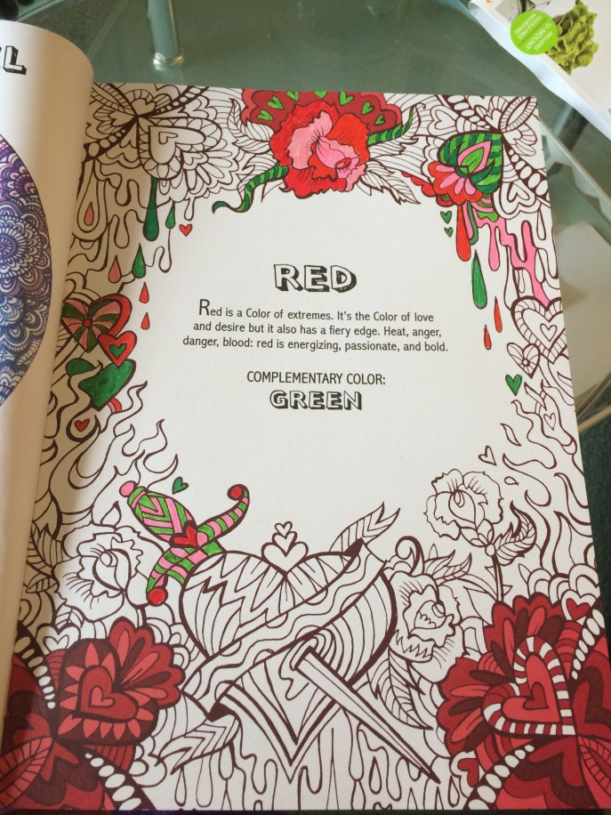 Stress relief coloring book