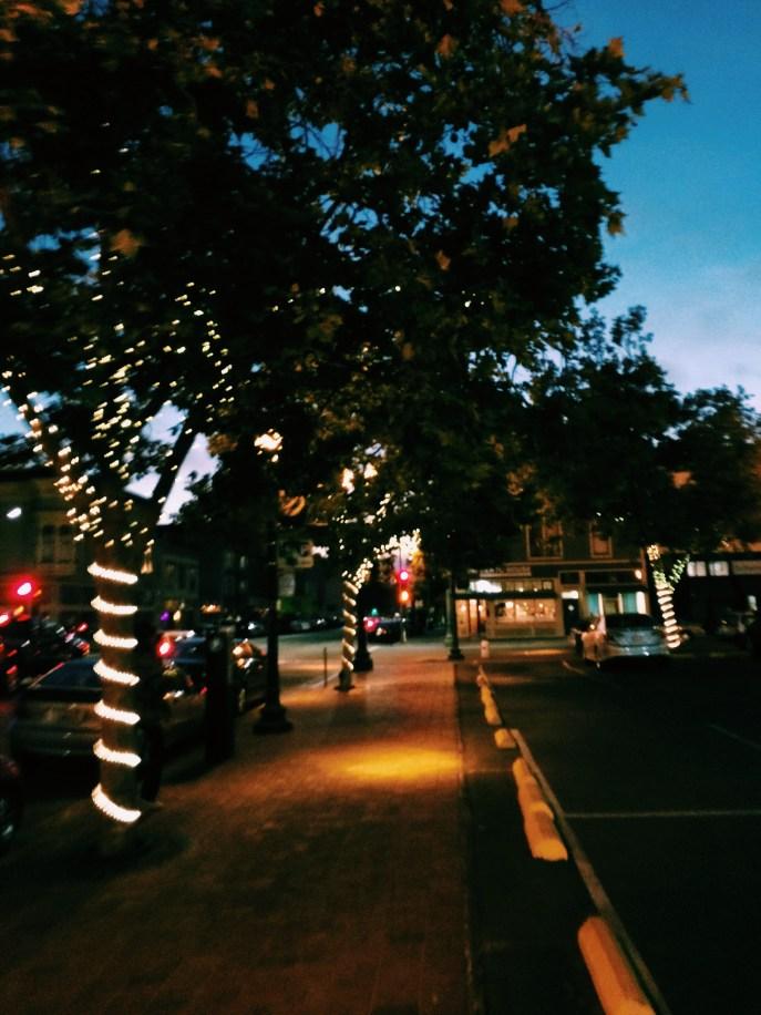 Oakland near Jack London Square; a little after sunset.