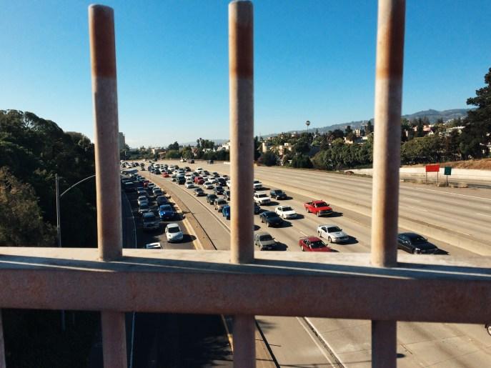 MacArthur freeway at rush hour.