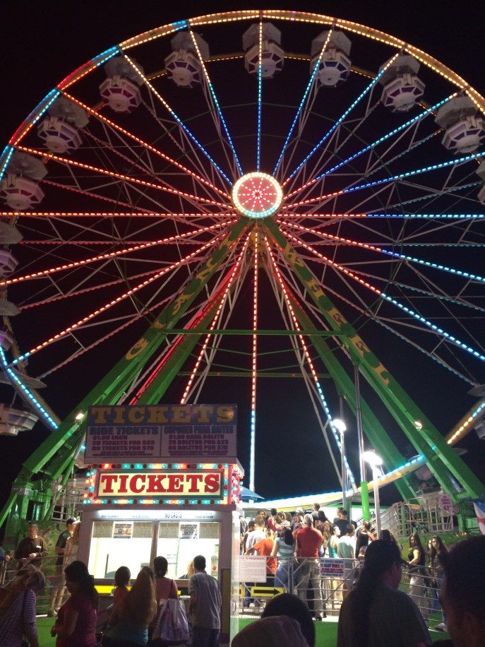 A fine day and night at the California State Fair in Sacramento, with friends.