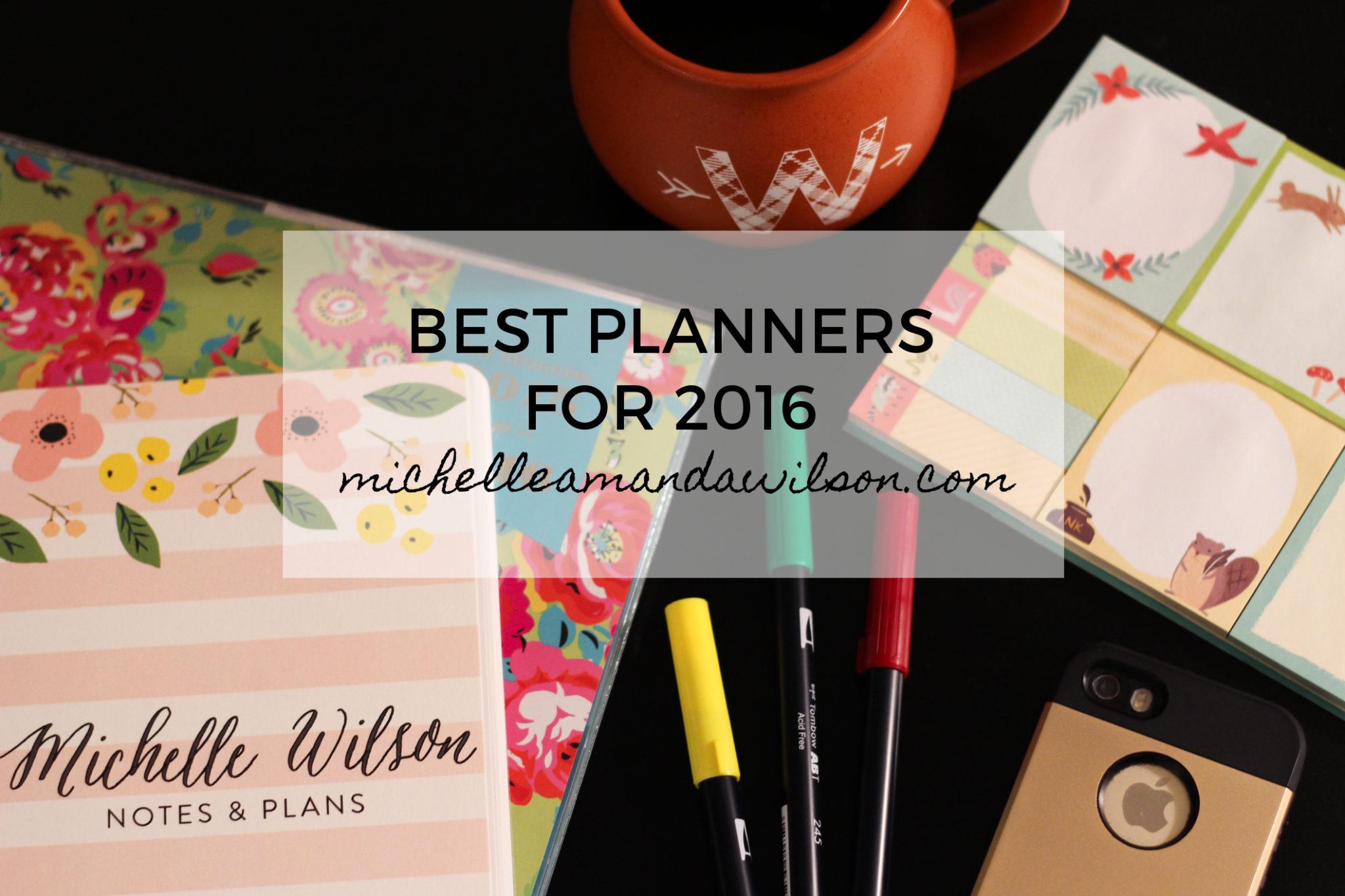 best 2016 planners