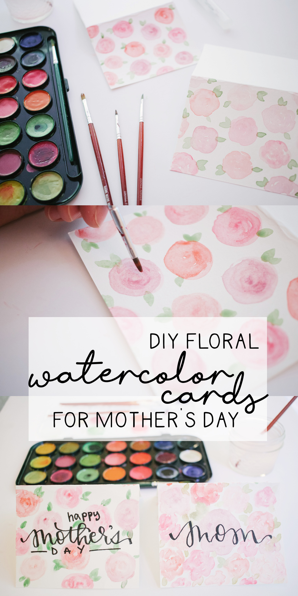 Floral DIY Watercolor Card for Beginners