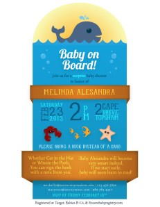 Under the Sea themed baby shower invitation. Tools: Illustrator CS6