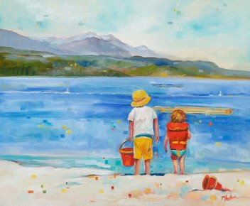 A day at the beach-SOLD