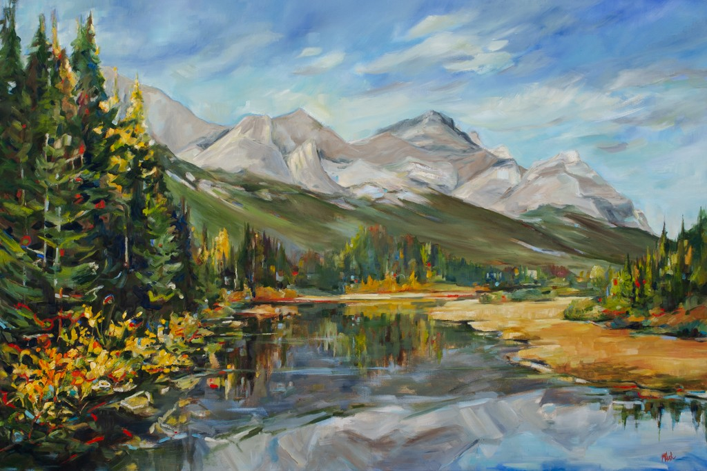 Alberta East to West Series-Mountains-SOLD