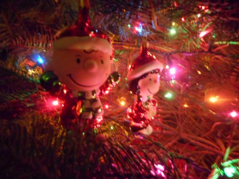 Peanuts Charlie Brown and Lucy XMas Tree Ornaments