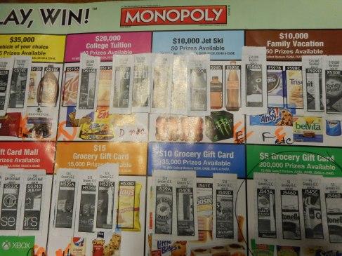 Vons - Monopoly $5 Winner