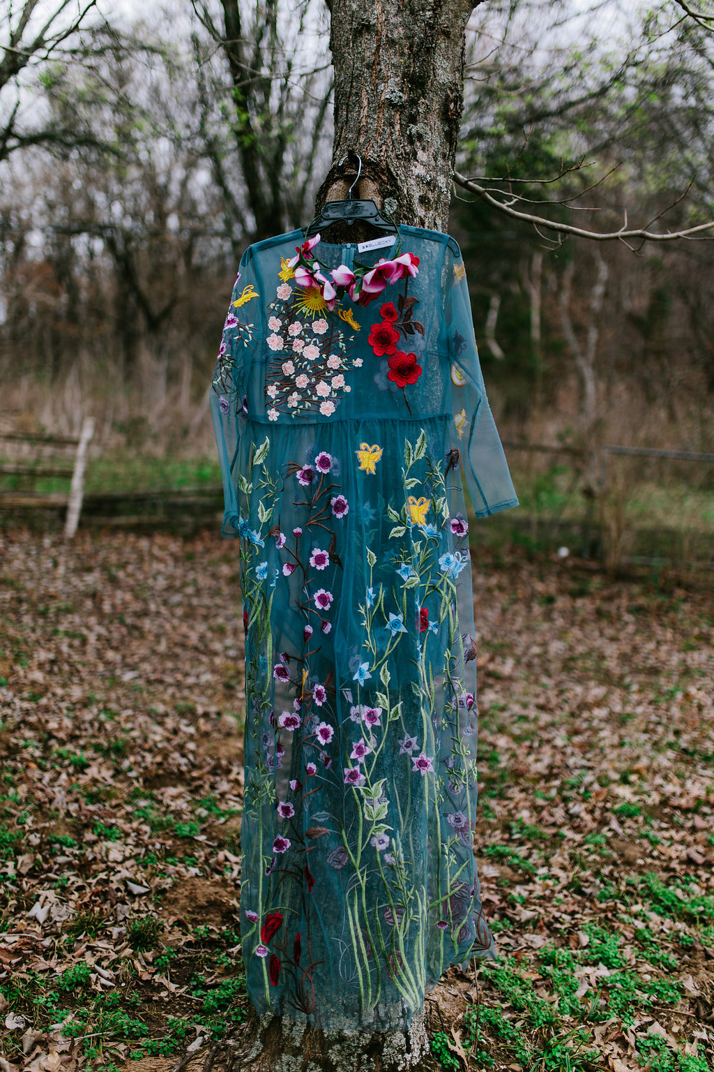 Sheer-Blue-Floral-Embroidered-Dress-Dezzal