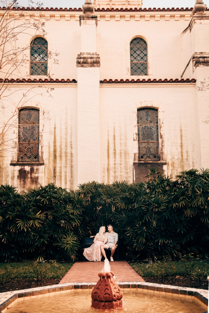 couple at rollins college in winter park