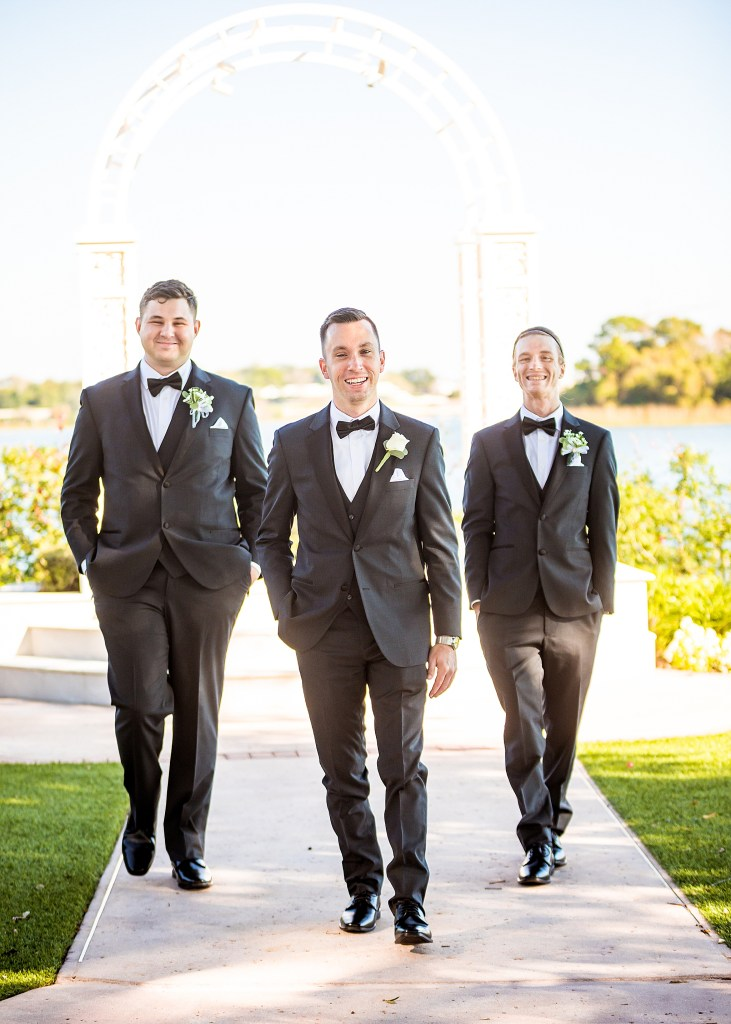 Disney world wedding photoshoot with Groom and Groomsmen
