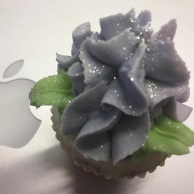 When your workday is brightened by glitter cupcakes thelittlethings youcanneverhavetoomuchglitter
