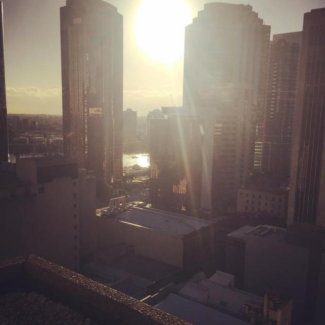 I forgot how beautiful brisbane could be  sunrise hilton