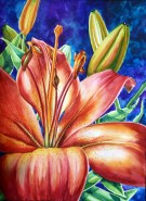 Lily I Dare You to Love Me; Original Watercolor Painting by Michelle C. East
