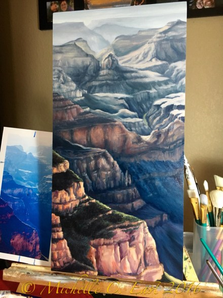 Blue Chasm oil painting Michelle C East