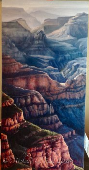 Blue chasm Grand Canyon painting Michelle c east