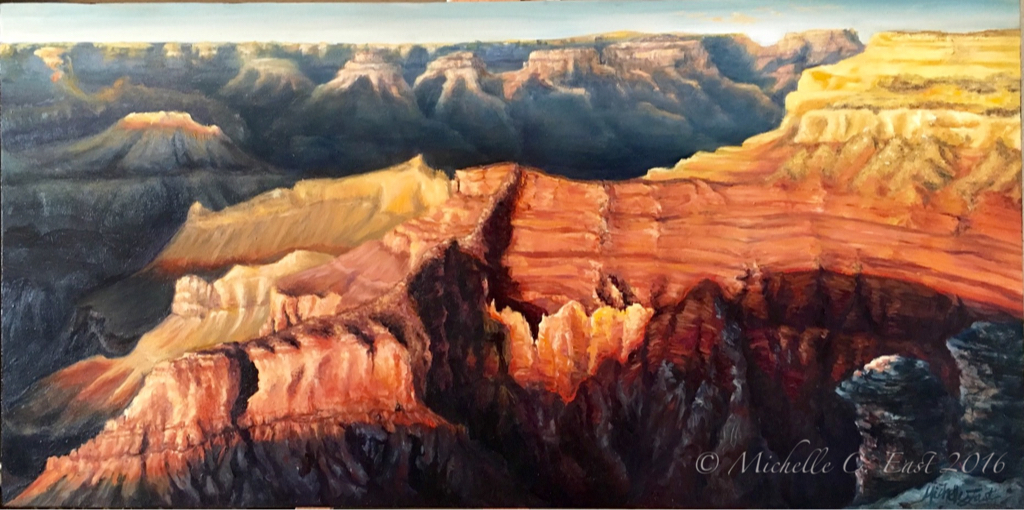 Grand Canyon Sunset - Michelle East Art