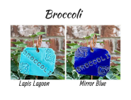Broccoli clay vegetable garden marker label