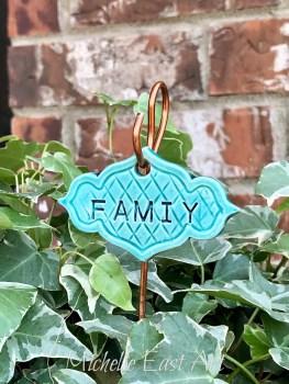 Family clay Garden Marker