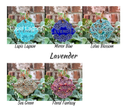 Lavender clay herb garden marker label