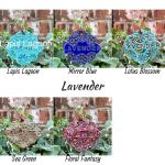 Lavender clay herb garden marker label