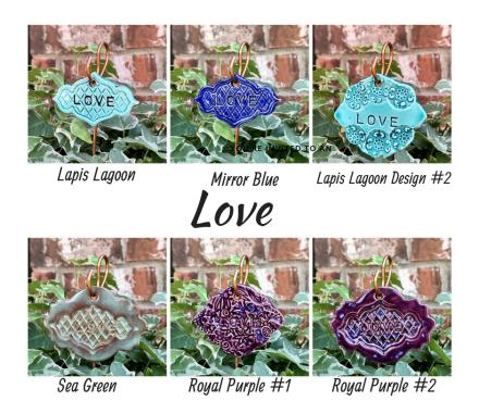 Love Ceramic Gift Plant Marker