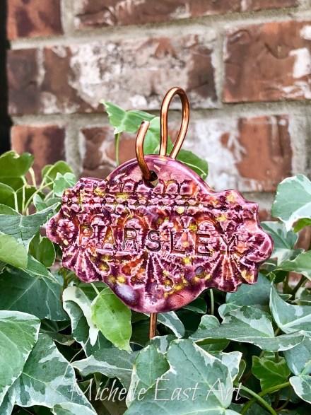 Parsley clay Herb Garden Marker Label