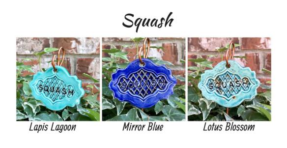 Squash clay garden marker label