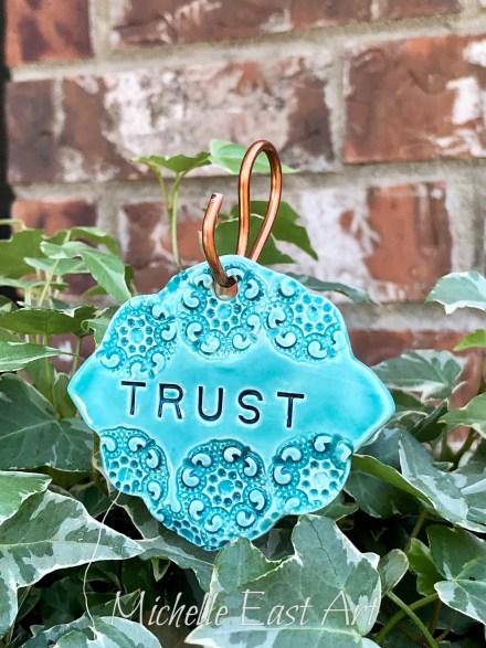 Trust clay Garden Marker