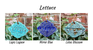 Lettuce clay garden marker label