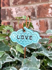 Love clay Garden Marker