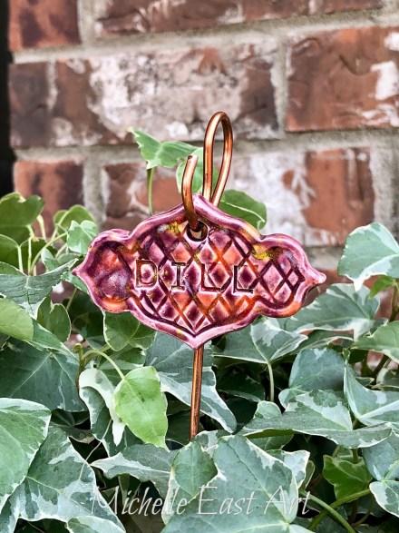 Dill clay Herb Garden Marker Label