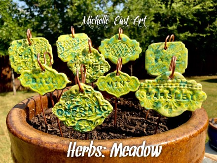 Herb ceramic marker set