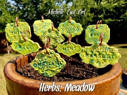 Herb ceramic marker set