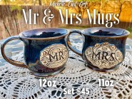 Mr and Mrs Mug Set Handmade pottery
